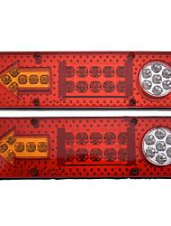 Недорогие -2шт 12v 23led автомобиль прицеп грузовик задний фонарь задний тормоз задний указатель поворота лампа