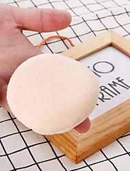 저렴한 -오더 프리 / 물 세탁 가능 / 여성 구성하다 1 pcs 스펀지 라운드 화장품 / 얼굴 단순한 / 휴태용 일상 데일리 메이크업 통기성 소프트 안전 화장품 미용 용품