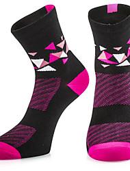 Недорогие -Компрессионные носки Спортивные носки / спортивные носки Носки для велоспорта Жен. Велоспорт Дышащий Антибактериальный Эластичность 1 пара Клетки В полоску Хлопок Другое Пурпурный Один размер