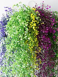 Недорогие -12 шт. Цветок лозы 72 шт. Лист 1 шт. 2 м украшения дома искусственный лист плюща гирлянда завод лозы поддельные листья цветок рептилия зеленый плющ венок