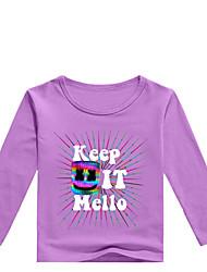 levne -Děti / Toddler Chlapecké Základní Tisk Tisk Dlouhý rukáv Bavlna / Spandex Košilky Šedá