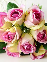 Недорогие -Искусственные Цветы 9 Филиал Классический европейский Свадебные цветы Розы Вечные цветы Букеты на стол