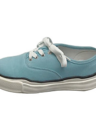 ราคาถูก -สำหรับผู้หญิง ผ้าใบ ฤดูใบไม้ผลิ รองเท้าผ้าใบ ส้นแบน ผ้าขนสัตว์สีธรรมชาติ / ฟ้า / สีชมพู