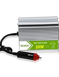 Недорогие -Kesge 200 Вт автомобильный инвертор постоянного тока постоянного тока 12 В / 24 В в переменный 220 В / 110 В с USB-зарядным устройством и модифицированной синусоидой