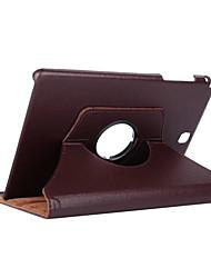 Недорогие -Кейс для Назначение SSamsung Galaxy Tab A 9.7 Поворот на 360° / Защита от удара / со стендом Чехол Однотонный Твердый Кожа PU