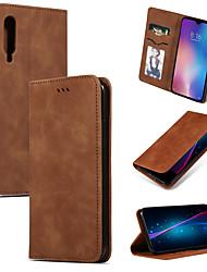 Недорогие -Кейс для Назначение Xiaomi Xiaomi Redmi Note 6 / Xiaomi Redmi Note 7 / Xiaomi Redmi Note 7 Pro Бумажник для карт / со стендом / Флип Чехол Однотонный Мягкий Кожа PU