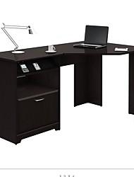 Недорогие -L-образный угловой компьютерный стол с выдвижным ящиком из эспрессо