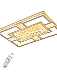 Недорогие -светодиодные хрустальные потолочные светильники / современная скрытая прямоугольная рамка для гостиной, теплая белая / белая / с возможностью затемнения с пультом дистанционного управления