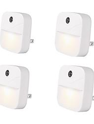 Недорогие -4шт LED Night Light Теплый белый + белый От электросети Беспроводной / Креатив / Управление освещением 100-240 V