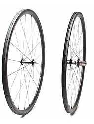 Недорогие -FARSPORTS 700CC Колесные пары Велоспорт 25 mm Шоссейный велосипед Углеродное волокно Однотрубка 20/24 Спицы 30 mm