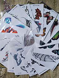 halpa -1 pcs väliaikaiset tatuoinnit Paras laatu Kasvot / Bodi / käsissä Korttipaperi