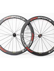Недорогие -FARSPORTS 700CC Колесные пары Велоспорт 23 mm Шоссейный велосипед Углеродное волокно Подходит для клинчерной покрышки / бескамерной шины 20/24 Спицы 50 mm