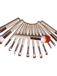 abordables -Profesional Pinceles de maquillaje 15pcs Cobertura completa Confortable Pincel de Fibra Artificial Madera / Bambú para Brocha de maquillaje