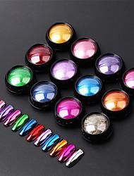 billige -1 pcs Bedste kvalitet Glitter Løst Pulver Til Fingernegl Mode Negle kunst Manicure Pedicure Daglig Stilfuld