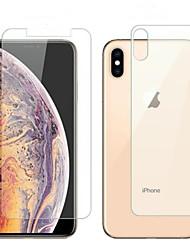 Недорогие -защитная пленка для экрана Apple iPhone 6/7/8 / х / х / х макс макс iphone 6 plus / 6splus / 7plus / 8plus закаленное стекло 1 передняя панель&усилитель; задний протектор высокой четкости (HD) /