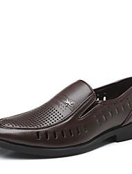 abordables -Homme Chaussures de confort Polyuréthane Eté Mocassins et Chaussons+D6148 Noir / Marron
