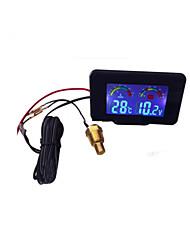 Недорогие -автомобиль грузовик 2 in1 жк-экран цифровой датчик температуры воды / вольтметр датчики с датчиком