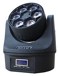 Недорогие -1 компл. Светодиодный свет этапа dmx512 управления звуком 6 бусинки глаза движущиеся фары крашения огни DJ-бар бальные огни украшения