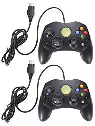 Недорогие -лот 2 черный проводной контроллер игровой коврик для Microsoft Xbox S типа 2