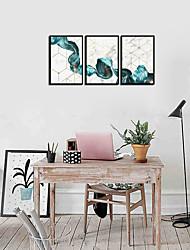 Недорогие -Набор в раме - Абстракция Алюминиевый сплав Масляные картины Предметы искусства
