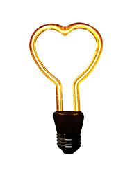 Недорогие -1шт в форме сердца светодиодные ночные лампочки 3 Вт E26 / E27 светодиодные высокой мощности украшения дома / свадьба теплый белый / красный / синий / зеленый