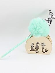 Недорогие -пластиковая ткань рыбий хвост волосы шарик синий карандаш ведущий шариковая ремесло подарки для детей, обучающихся офис канцтовары