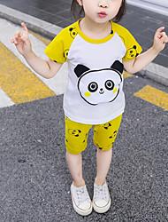 abordables -Bebé Chico Activo / Básico Estampado / Bloques / Retazos Retazos / Estampado Sin Mangas Regular Regular Algodón Conjunto de Ropa Rosa