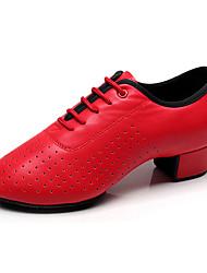 068bc656d23 Κοριτσίστικα Παπούτσια τζαζ Φο Δέρμα Τακούνια Πυκνό τακούνι Εξατομικευμένο  Παπούτσια Χορού Μαύρο / Κόκκινο