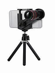 Недорогие -Объектив для мобильного телефона Длиннофокусный объектив стекло / Пластиковые & Металл / ABS + PC Макрос 12X 18 mm 3 m 9 ° Линза / объектив со стендом / Творчество / Новый дизайн