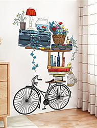 Недорогие -ретро велосипед орнамент стикер стены творческая гостиная спальня коридор теплый фон стены самоклеящиеся обои наклейки
