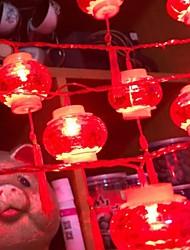 billige -6 * 4m Lysslynger 20 LED Rød Dekorativ Soldrevet 1set
