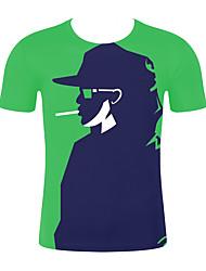 저렴한 -남성용 기하학 / 3D 티셔츠 클로버 XXL