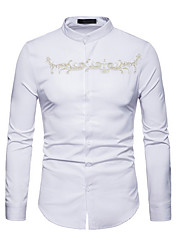 billige -Herre - Ensfarvet Skjorte Hvid L