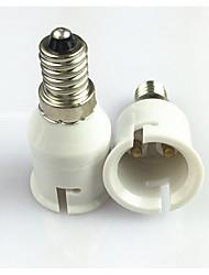 levne -1ks E14 až B22 E14 100-240 V Adaptér Plastický Zásuvka na žárovky