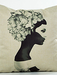 levne -dekorativní polštář vinobraní personalizované dívka vzor útulný zadní polštář kryt