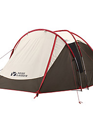 ieftine -MOBI GARDEN 4 persoane Cort de camping familial În aer liber Rezistent la Vânt Rezistent la UV Impermeabil Dublu Stratificat Stâlp Cort de campare 1500-2000 mm pentru Camping / Cățărare / Speologie