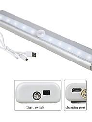 Недорогие -1шт LED Night Light Тёплый белый / Белый USB Перезаряжаемый / Простота транспортировки / Датчик человеческого тела <=36 V