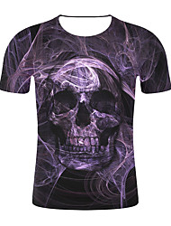저렴한 -남성용 기하학 / 3D 티셔츠 퍼플 XXL