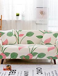 Недорогие -Листья печать прочный мягкий высокий стрейч чехлы для дивана моющиеся спандекс чехлы для диванов