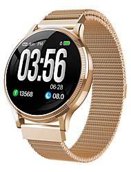 Недорогие -MK08 Smart Watch BT Поддержка фитнес-трекер уведомить ультратонкий круглый SmartWatch для мобильных телефонов Samsung и Sony и Iphone