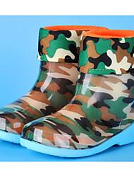 halpa -Poikien / Tyttöjen Kengät PVC Kevät Comfort / Kumisaappaat Bootsit varten Lapset Vihreä / Sininen / Pinkki / Säärisaappaat