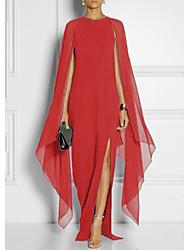 tanie -Damskie Moda miejska Elegancja Swing Sukienka - Solidne kolory, Patchwork Maxi