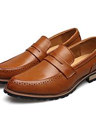 abordables -Homme Chaussures Formal Microfibre / Polyuréthane Printemps été Mocassins et Chaussons+D6148 Noir / Jaune / Rouge / Soirée & Evénement