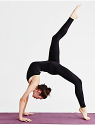 abordables -Danse classique justaucorps / Justaucorps Femme Entraînement / Utilisation Chinlon Bandeau Sans Manches Taille haute Collant / Combinaison