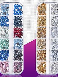 billige -1 pcs Bedste kvalitet Metallegering Rhinsten Til Fingernegl Mode Kreativ Negle kunst Manicure Pedicure Daglig Mode / Farverig