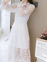 halpa -naisten midi-vaippapuku sifonki khaki valkoinen musta s m l