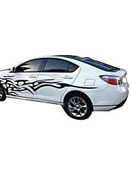 Недорогие -3d пламя тотем наклейки наклейки на автомобиль всего тела стайлинга автомобилей виниловые наклейки для украшения автомобилей