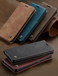 Недорогие -Кейс для Назначение OnePlus Один плюс 7 / One Plus 7 Pro Бумажник для карт / со стендом / Флип Чехол Однотонный Твердый Кожа PU