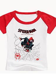 tanie -Dzieci Brzdąc Dla chłopców Podstawowy Nadruk Nadruk Krótki rękaw Bawełna Spandeks T-shirt Czarny