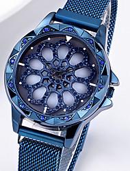 Недорогие -ASJ Жен. Кварцевые Синтетический алмаз Элегантный стиль Скелет Черный Синий Фиолетовый Нержавеющая сталь Китайский Кварцевый Черный Лиловый Розовое Золото С гравировкой Повседневные часы 1 ед.